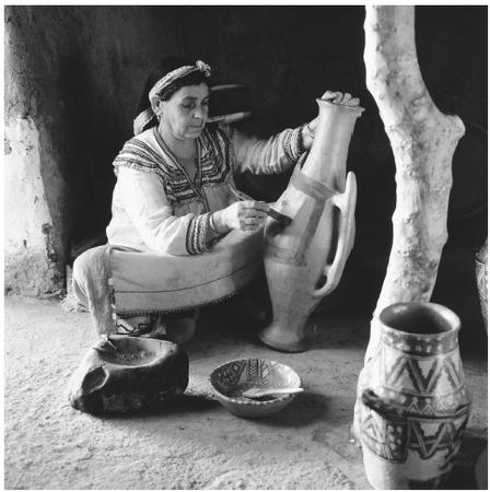 Methods dating back to the Roman era are still employed in the production of pottery by women of the Kabylia and Aures mountains. Pottery, jewelry, and woven works are very popular in the open-air markets.