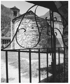 A stone church in a village near Andorra La Vella. Even though Andorra has no formal religion, Roman Catholicism is predominantly practiced.