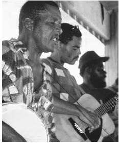 A string band plays on Scilly Cay. Tourism is now the most widespread commercial concern in Anguilla.