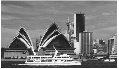 The Sydney Opera House, one of the most readily recognized buildings in Australia.