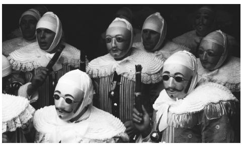The three-day carnival at Binche, near Mons, is held just before Lent. During the Gilles carnival men dressed in bright costumes lead participants. The majority of Belgians are Catholic.