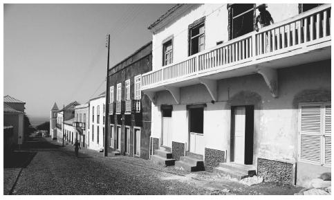 Old colonial style architecture is reminiscent of the past European influence in Cape Verde.