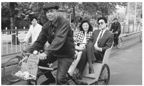 Bicycles are one of the most common modes of transportation in China's crowded cities.