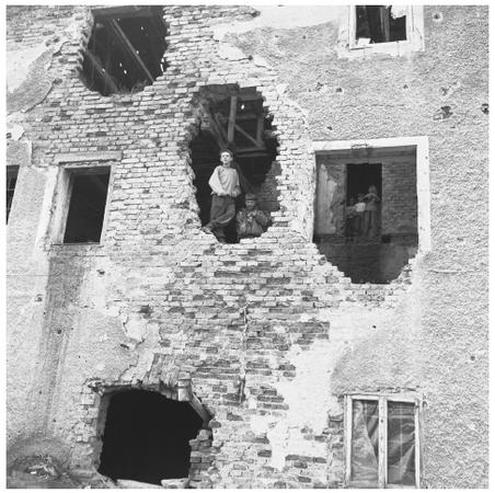 Children play in the ruins of a building. The war for Croatian independence that lasted from 1991 to 1995 took a heavy toll on the country.