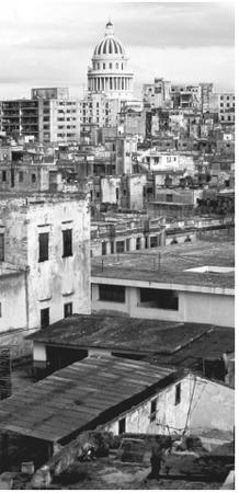 View overlooking Havana. Cuban cities are extremely overcrowded.
