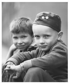 Two boys in Prague, Czech Republic.