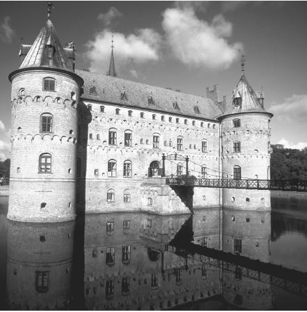 Egeskov Castle is a well-preserved example of Renaissance architecture in Denmark.
