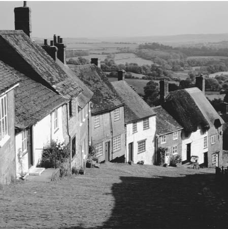 A row of houses in Shaftesbury, Dorset. Many small villages have made an effort to preserve classic English architecture.