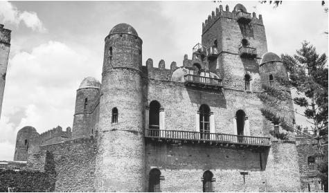 The castle of the Emperor of Fastilida in Gondar.