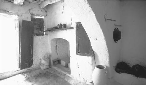 An interior view of a home on Crete. Greek homes are private spaces, and hospitality is seen as both a pleasure and a responsibility.