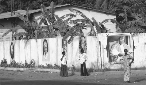 The Wall of Heroes in Conakry. Guinea's often tumultuous history has left a complicated legacy for its citizens.