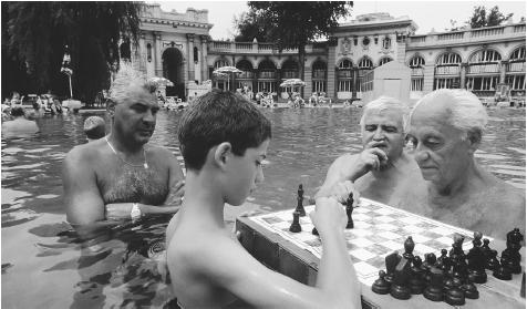 Hungarians frequent the Szechenyi Thermal Baths in Budapest and other spas to promote good health.