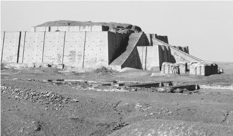 The ziggurat of Nanna, built around 2100 B.C.E. in the ancient city of Ur by Shulgi.