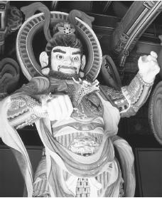 Kwang-mok-chong-wang, the guardian of the West at Pulguk-sa Temple in Kyongju, South Korea.