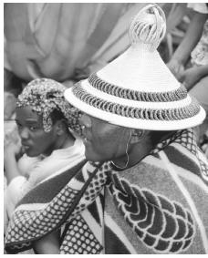 A Lesothan man in a traditional costume.