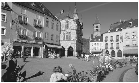 The Echternach marketplace in Luxembourg.