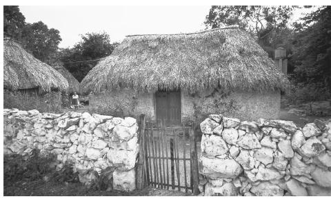 A traditional Yucatecan Maya house. Cozumel, Mexico.