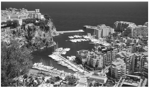 Scenic view of the Port of Fontvieille. Tourism is the major industry in Monaco.
