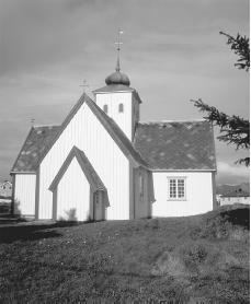 A church in Bud, a fishing village near Molde. The constitution guarantees freedom of religion.