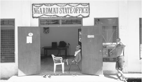 The Ngardmaun State Office Building in Babeldaob Island. Palau's government is modeled on that of the United States.