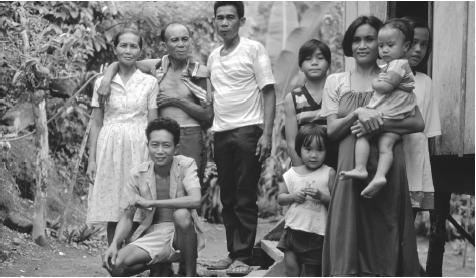 Filipino families enjoy close kin bonds, and extended families living together are the norm.