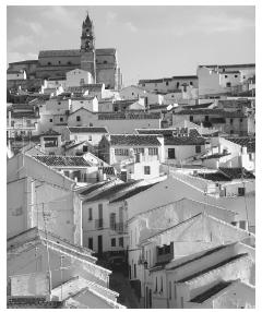 Tightly clustered towns are typical in Spain, where isolation in the countryside is often pitied.