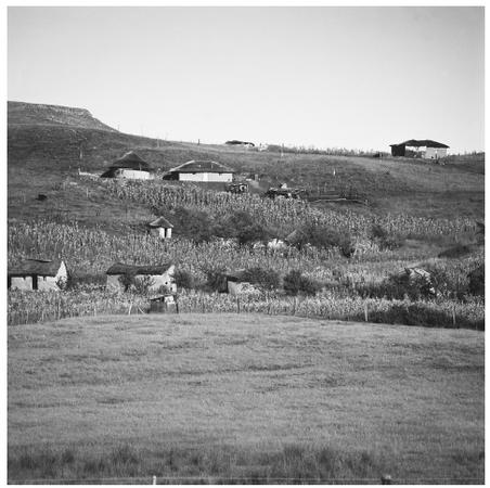 A village along the Drakensberg Mountains. Most of the country is made up of mountainous terrain.