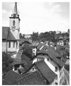 Swiss cities, such as Bern (shown here) are densely populated but fairly small.