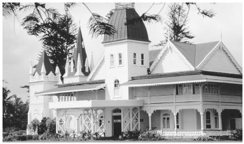 The royal palace in Nukualofa. Tonga is a constitutional monarchy.