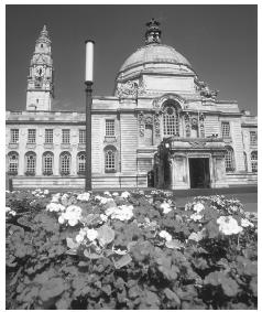 City Hall in Cardiff, Wales.