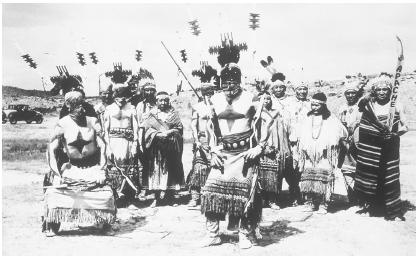 Mescalero Apache Devil Dancers perform at powwows around the country.